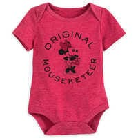 Image of Minnie Mouse Mouseketeer Disney Cuddly Bodysuit for Baby # 1