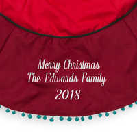 Image of Mickey and Minnie Mouse Holiday Tree Skirt - Personalizable # 2