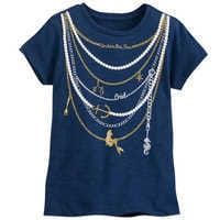 Image of The Little Mermaid ''Necklace'' T-Shirt for Girls # 1