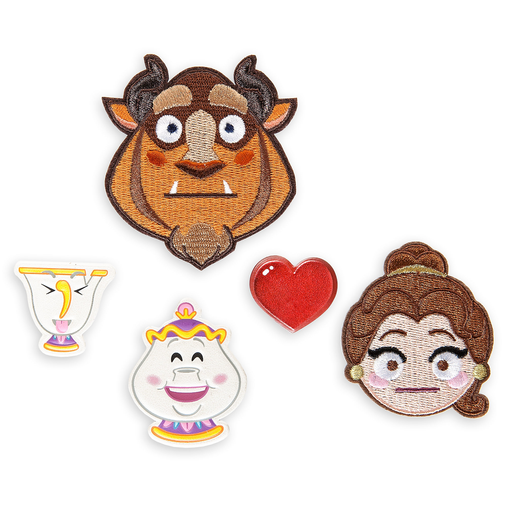 Beauty and the Beast Emoji Sticker Patch Set