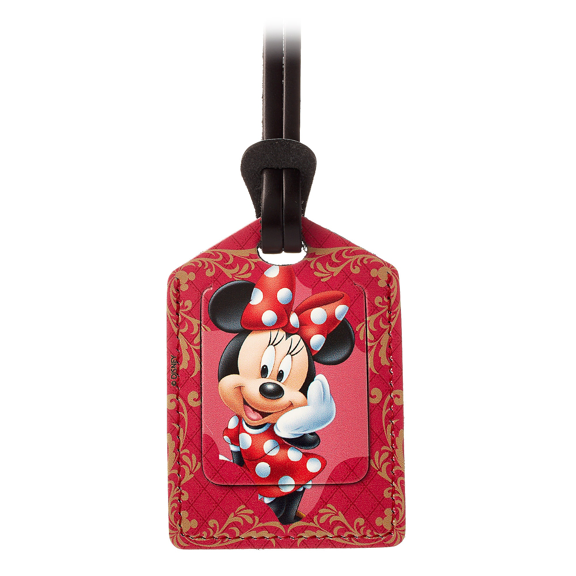 Minnie Mouse Leather Luggage Tag - Personalizable