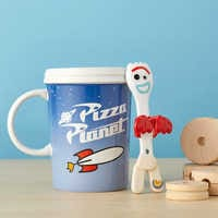Image of Pizza Planet Mug and Forky Spoon Set - Toy Story 4 # 2