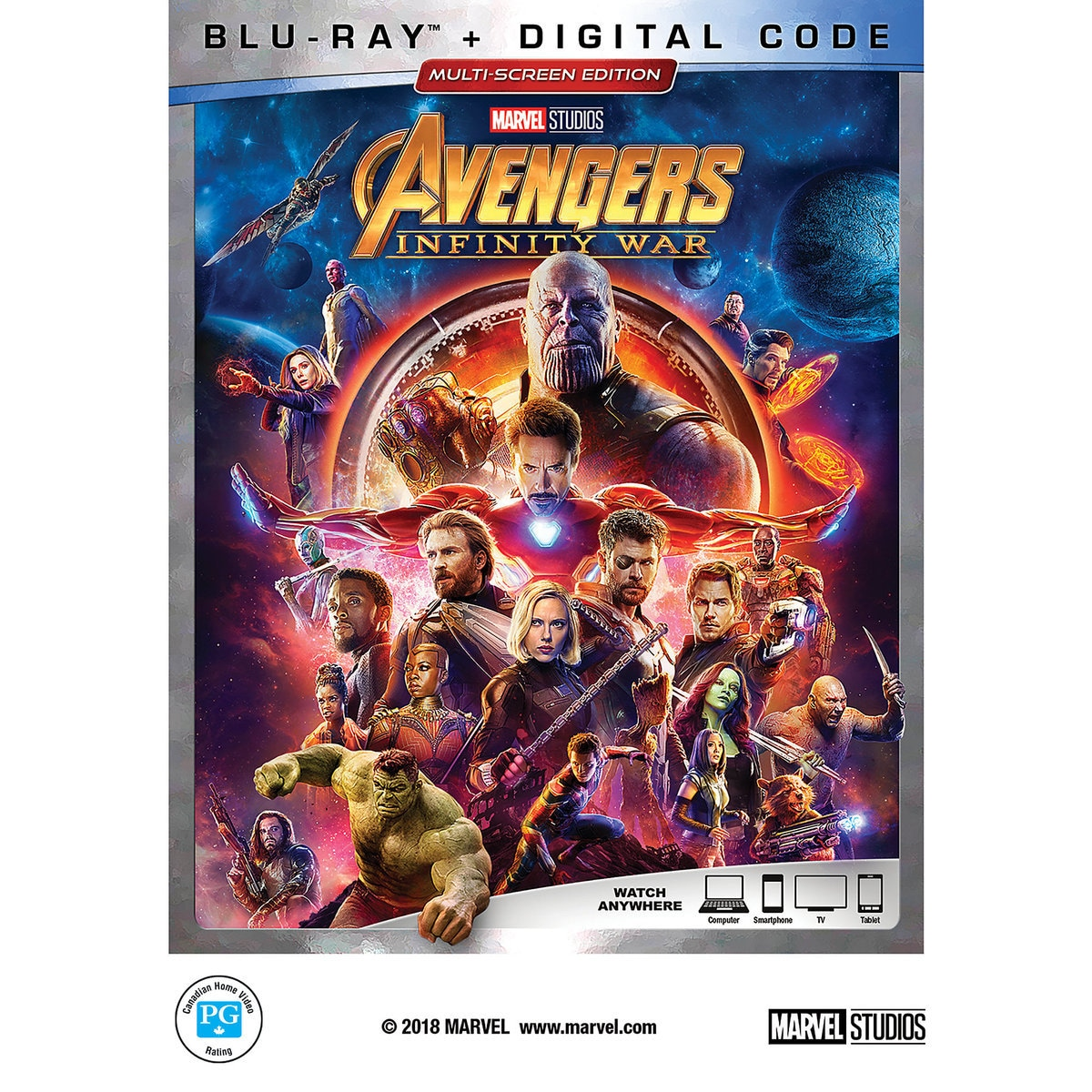 Product Image of Marvel's Avengers: Infinity War Blu-ray Multi-Screen Edition - with FREE Lithograph Set Offer - Pre-Order # 1