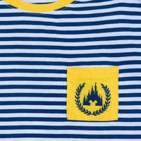 Image of Fantasyland Castle Striped T-Shirt for Women # 3