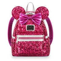 Image of Minnie Mouse Sequin Mini Backpack by Loungefly - Imagination Pink # 1