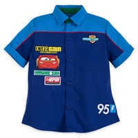 Image of Lightning McQueen Mechanic Shirt for Boys # 1