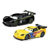 Image of Jeff Gorvette & Lewis Hamilton Pull 'N' Race Die Cast Set - Cars # 1