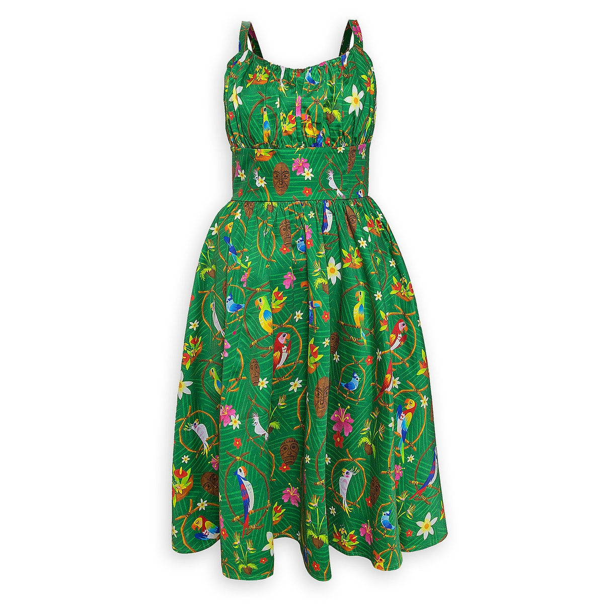 Retro Tiki Dress – Tropical, Hawaiian Dresses Enchanted Tiki Room $128.00 AT vintagedancer.com