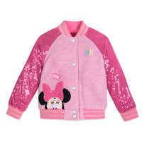 Image of Minnie Mouse Pink Sequin Varsity Jacket - Personalized # 4
