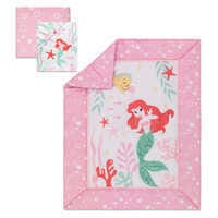 Image of Ariel's Grotto Crib Bedding Set by Lambs & Ivy - The Little Mermaid # 1
