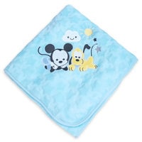 Image of Mickey Mouse and Pluto Plush Blanket for Baby - Personalizable # 1