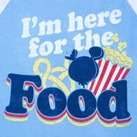 Image of Disney Parks ''I'm here for the Food'' Football T-Shirt for Women # 2