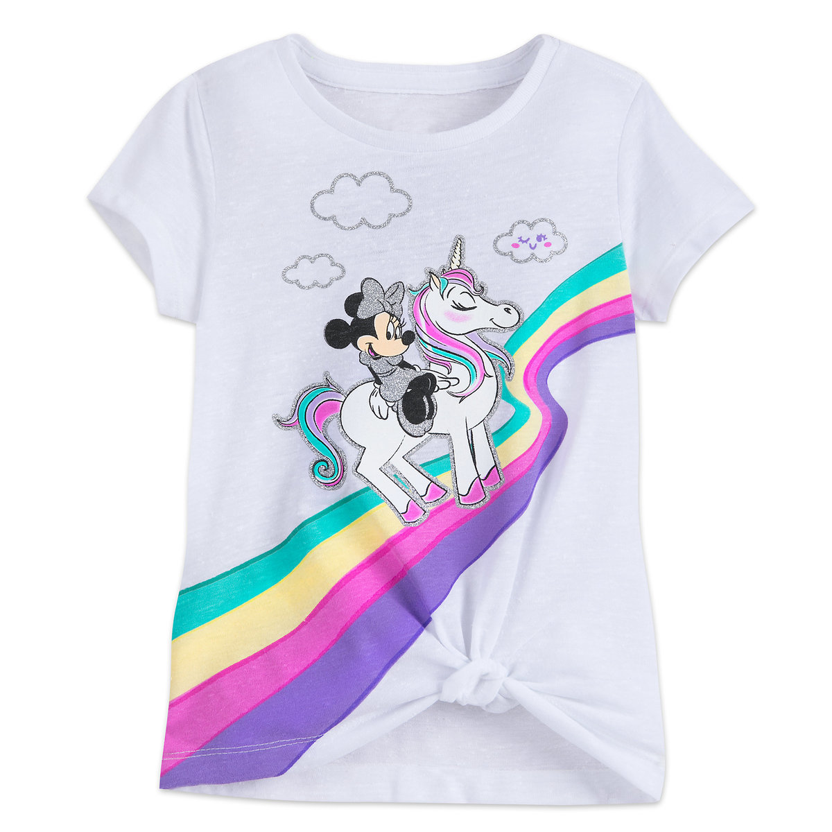 1f9a5805752d Product Image of Minnie Mouse and Unicorn Knotted T-Shirt for Girls # 1