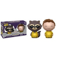 Image of Rocket and Peter Quill Dorbz Vinyl Figure Set by Funko # 1