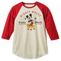 Image of Mickey Mouse ''Feelin' Classic'' Baseball T-Shirt for Men # 1
