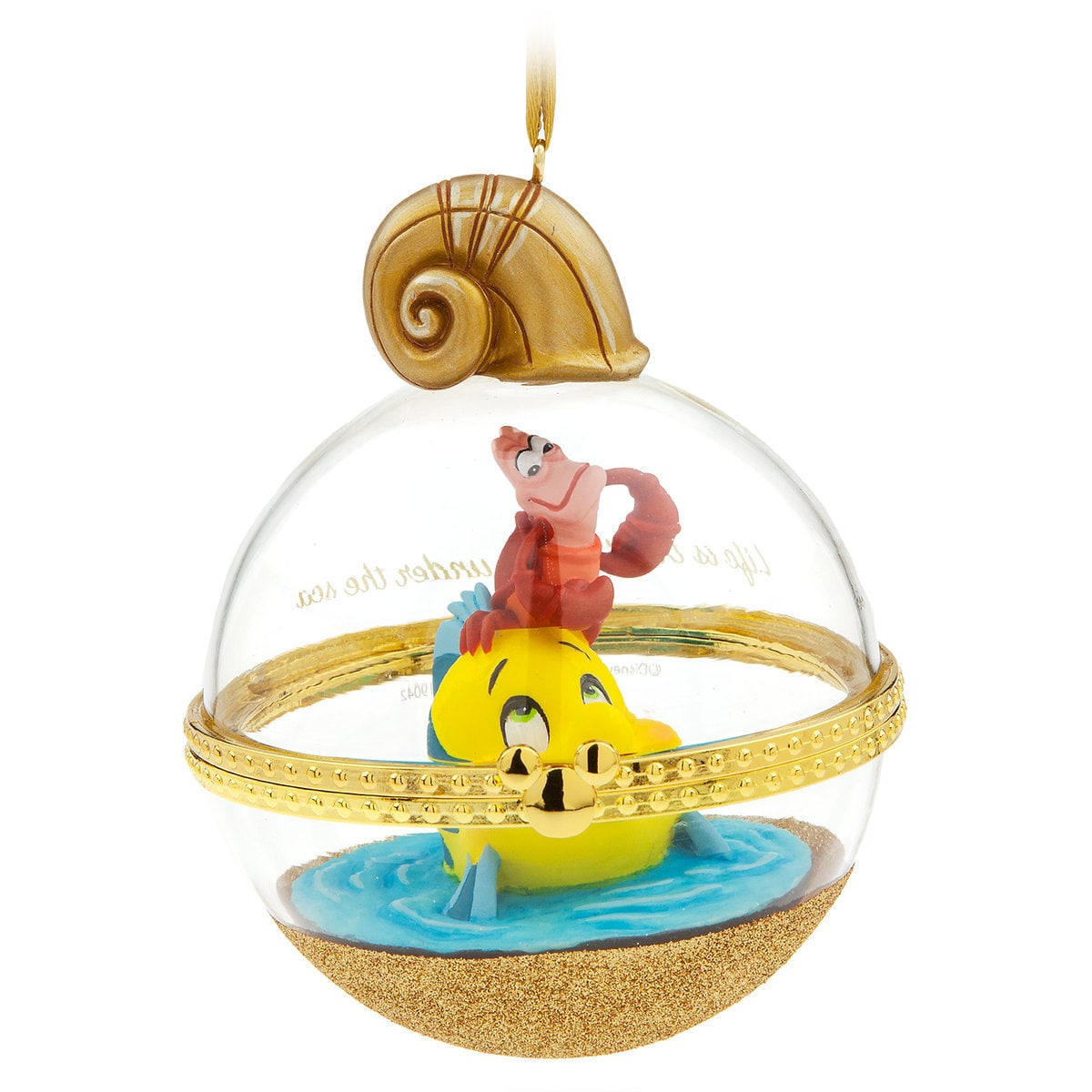 9d3bbda154c0b Product Image of Sebastian and Flounder Disney Duos Sketchbook Ornament -  The Little Mermaid - June