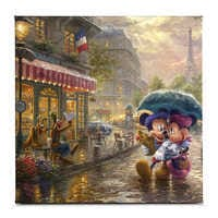 Image of ''Mickey and Minnie in Paris'' Gallery Wrapped Canvas by Thomas Kinkade Studios # 1