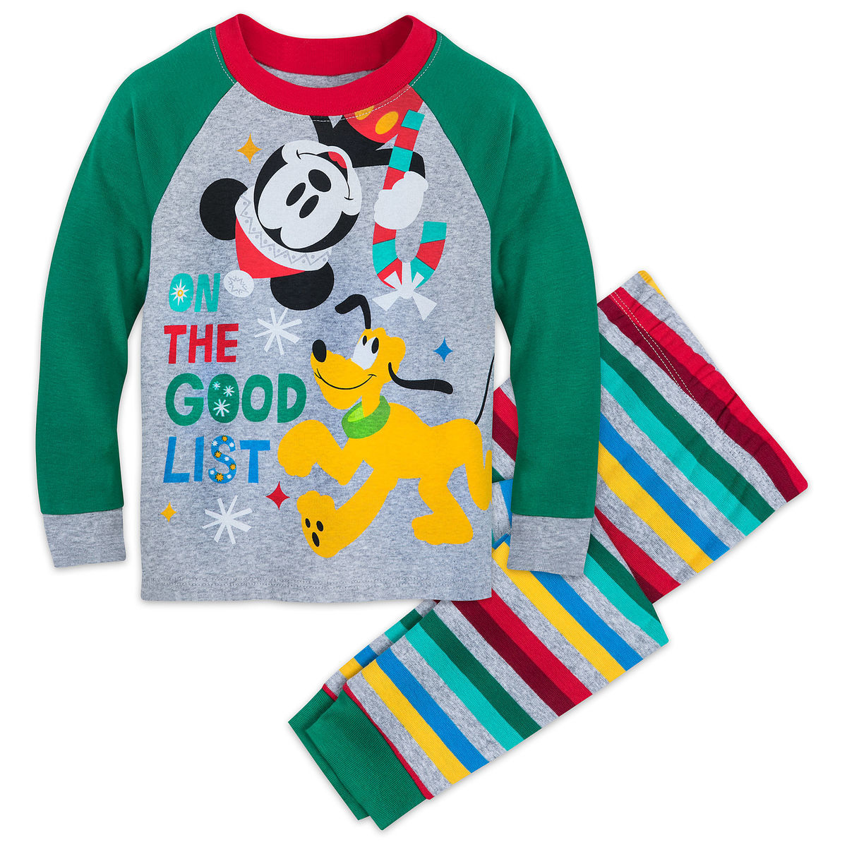 06ded3190f23 Mickey Mouse and Pluto Holiday PJ Set for Boys