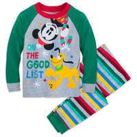 Image of Mickey Mouse and Pluto Holiday PJ Set for Boys # 1
