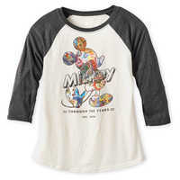 Image of Mickey Mouse Through the Years Raglan Shirt for Women # 1