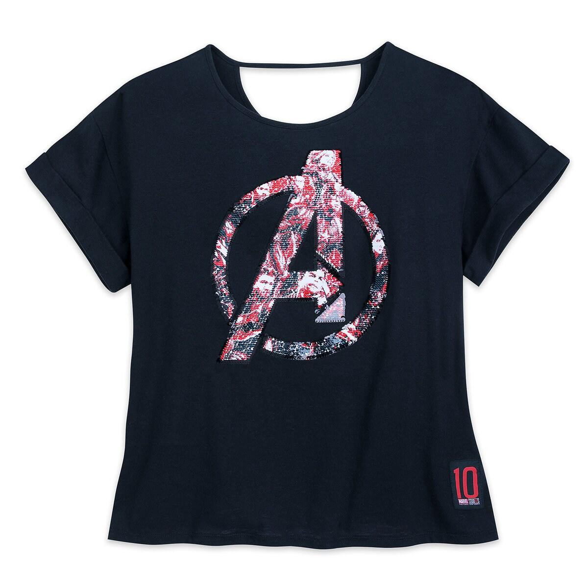 d3a17aa5fcf Product Image of Marvel's Avengers: Endgame Reversible Sequin T-Shirt for  Women # 1