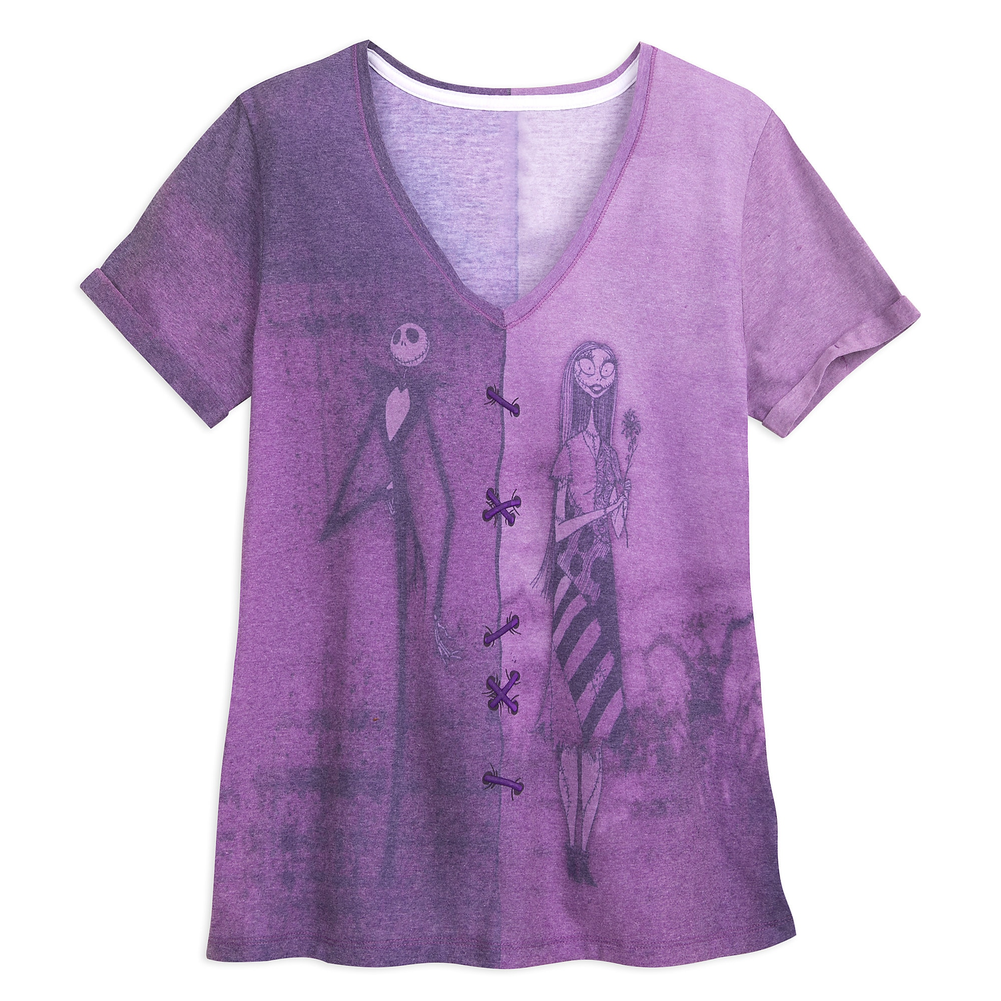Jack Skellington and Sally Fashion T-Shirt for Women