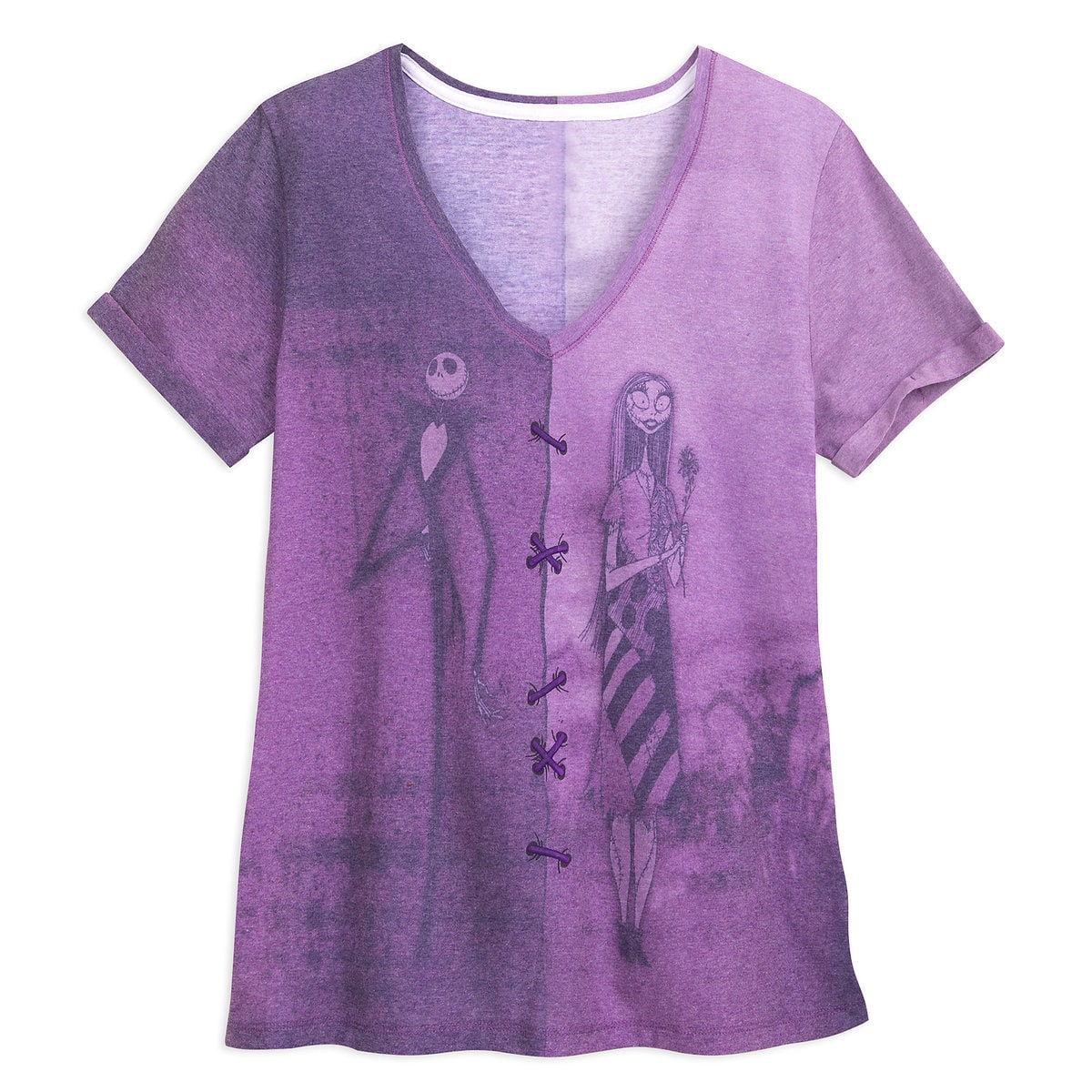 cf9b9b044481 Product Image of Jack Skellington and Sally Fashion T-Shirt for Women # 1