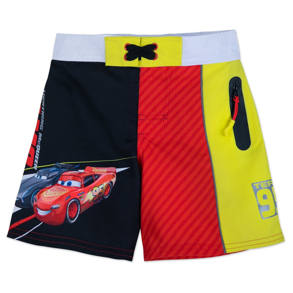 7bf6282431 Lightning McQueen and Jackson Storm Swim Trunks for Boys Official  shopDisney. Price: $22.95