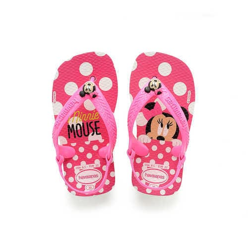 Disney Minnie Mouse Pink Flip Flops for Baby by Havaianas