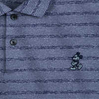 Image of Mickey Mouse Striped Performance Polo Shirt for Men by Nike - Blue # 2