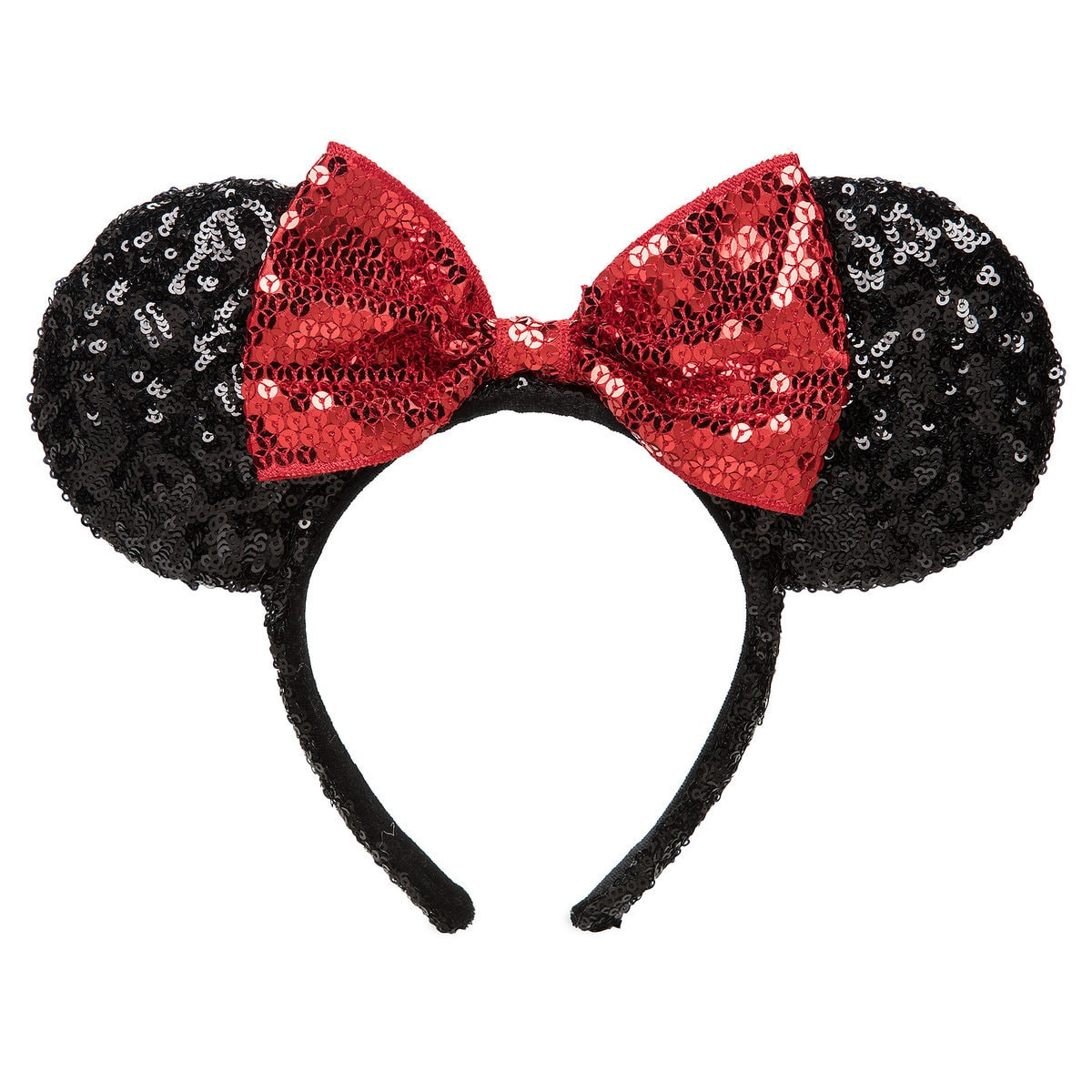 Black and Red Minnie Mouse Sequin Ears