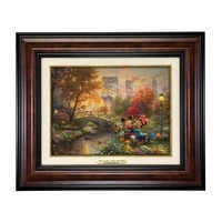 Image of ''Mickey and Minnie Sweetheart Central Park'' Canvas Classic by Thomas Kinkade Studios - Framed # 1