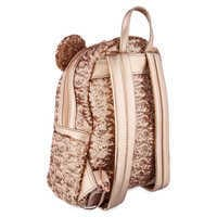 Image of Minnie Mouse Sequined Mini Backpack by Loungefly - Rose Gold # 2