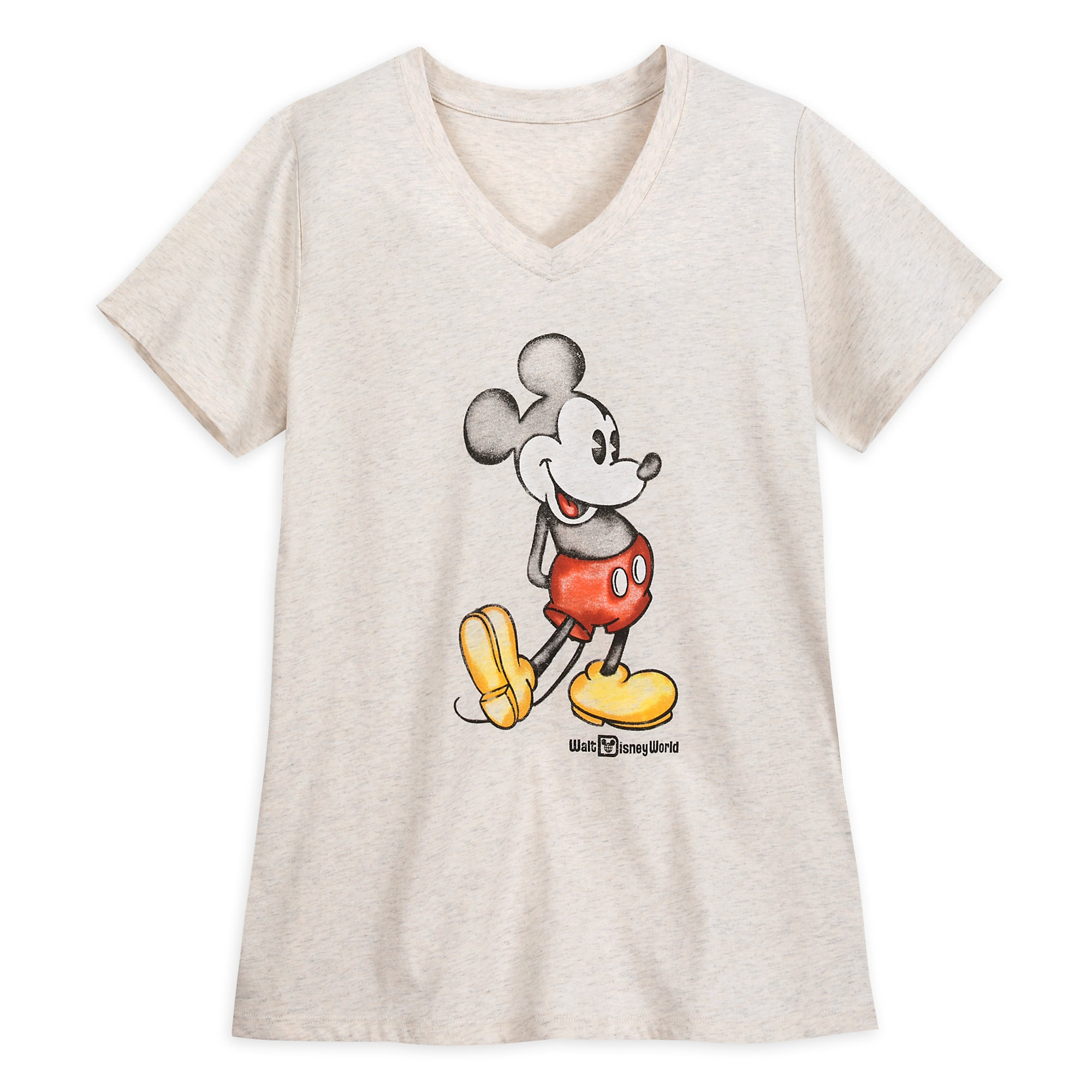 d47e46719 Mickey Mouse Heathered V-Neck T-Shirt for Women – Walt Disney World –  Oatmeal has hit the shelves for purchase