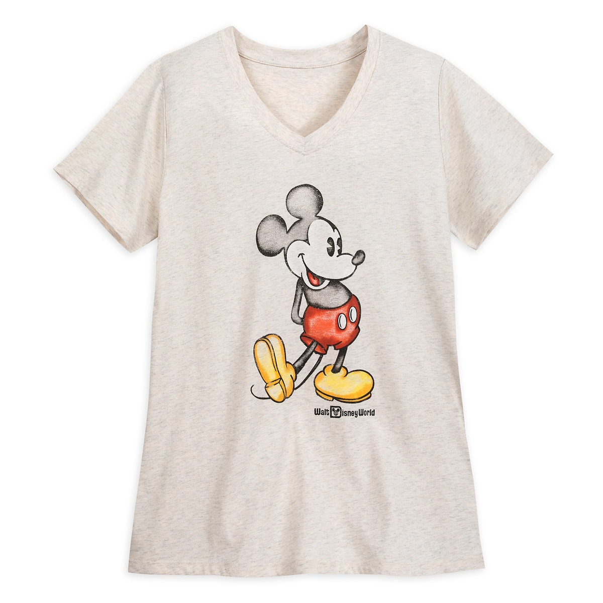 215db8e6a Product Image of Mickey Mouse Heathered V-Neck T-Shirt for Women - Walt