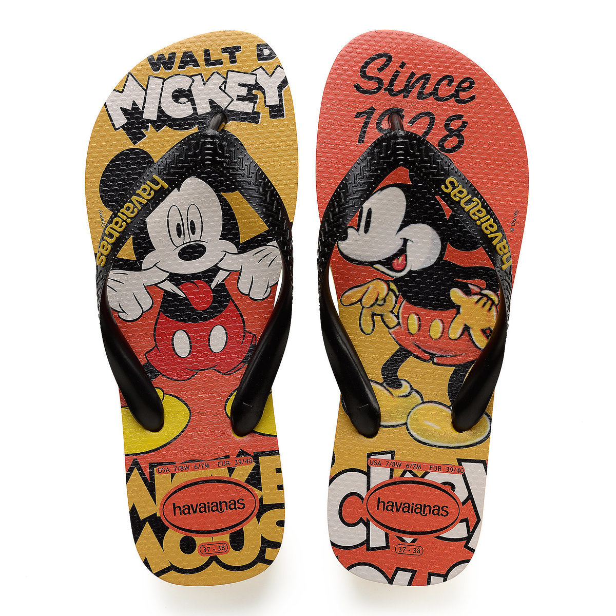 7f9ebd575ced Product Image of Mickey Mouse Flip Flops for Men by Havaianas   1