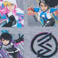 Image of Marvel Rising ''Teen Heroes'' Raglan Top for Girls # 4