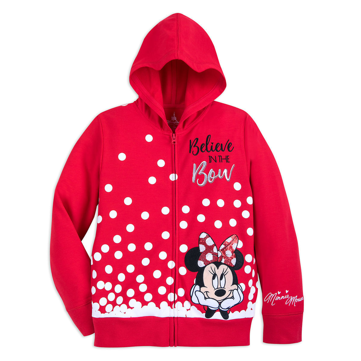 67017e60f Minnie Mouse Sequined Hoodie for Girls