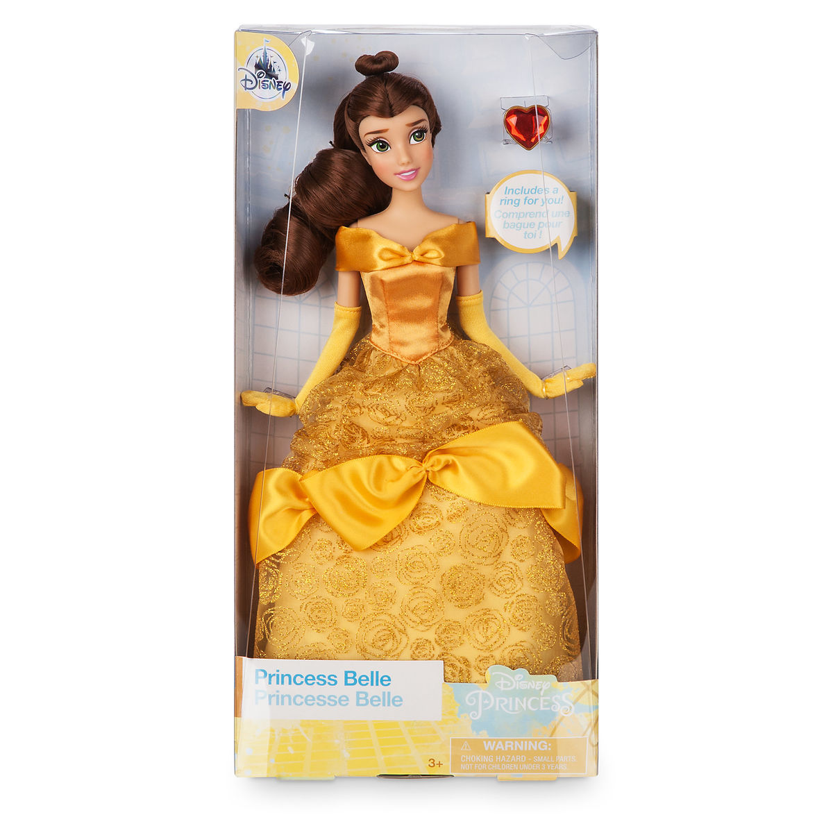 7fd92b252ff Product Image of Belle Classic Doll with Ring - Beauty and the Beast - 11 1
