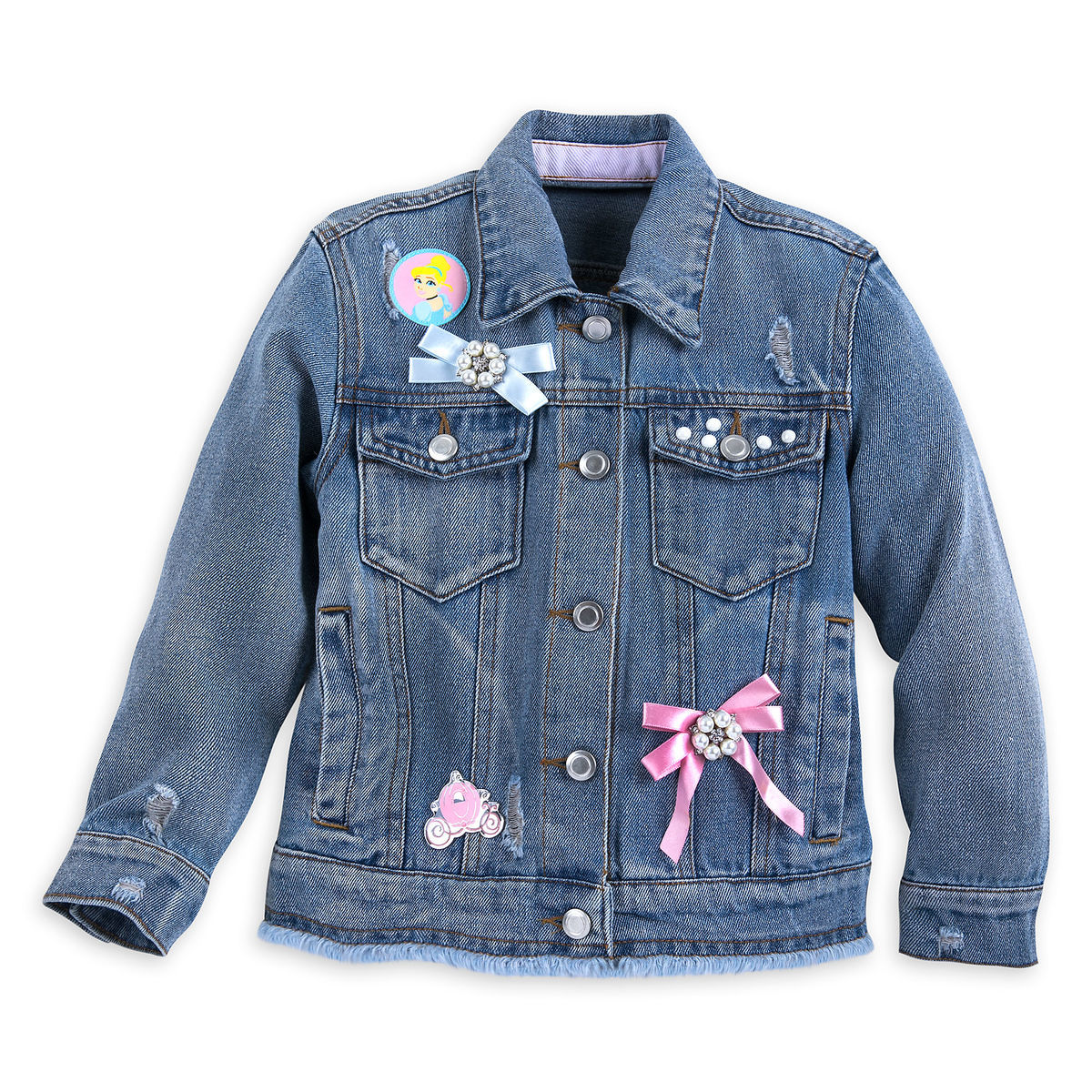 Cinderella Denim Jacket For Girls Shopdisney