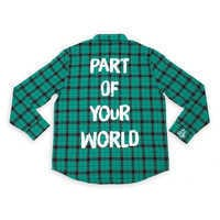 Image of Ariel Flannel Shirt for Adults by Cakeworthy # 1
