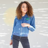 Image of Ariel Chambray Bomber Jacket for Women - Oh My Disney # 2