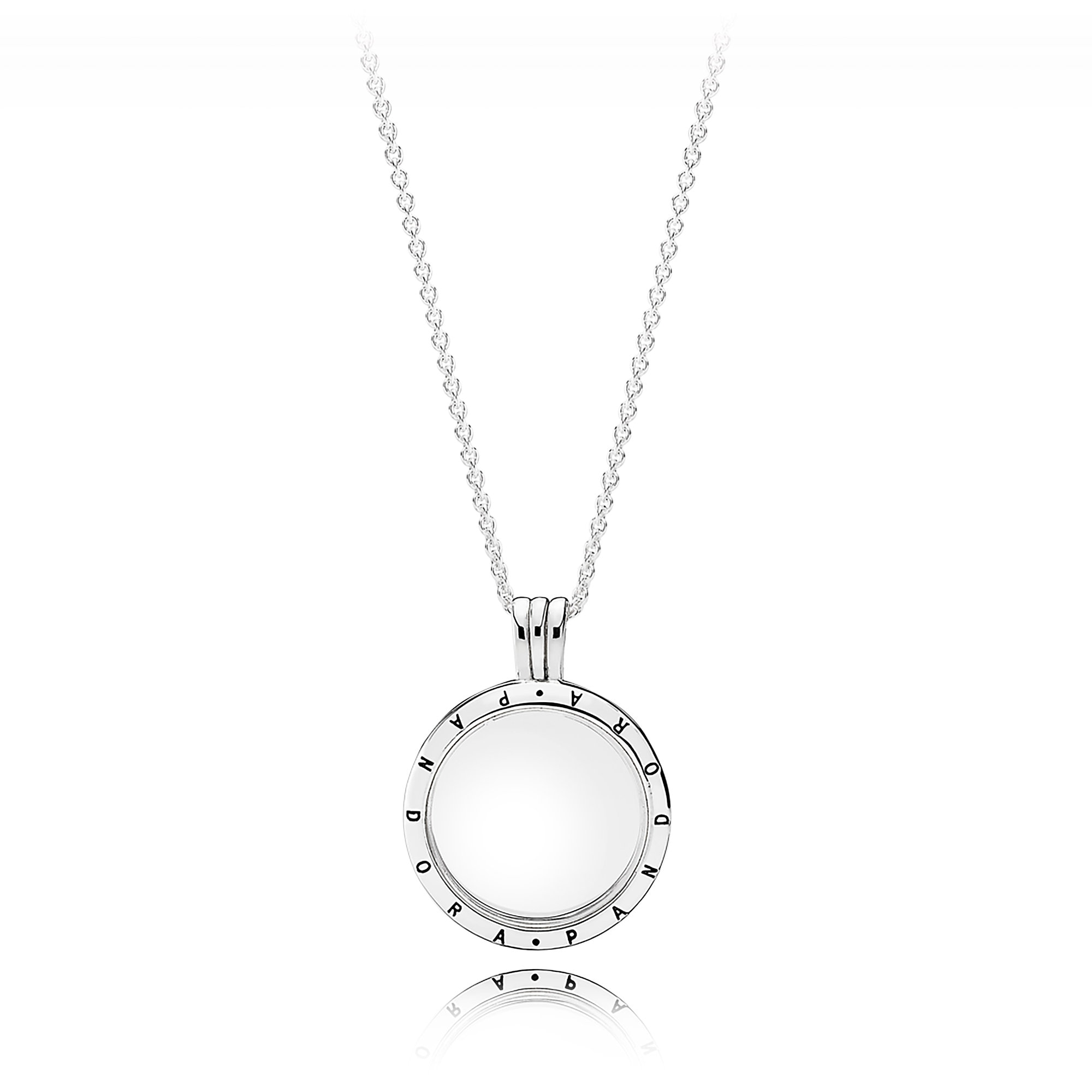 lockets papier large charm silver necklace sterling studio silhouette products le classic locket