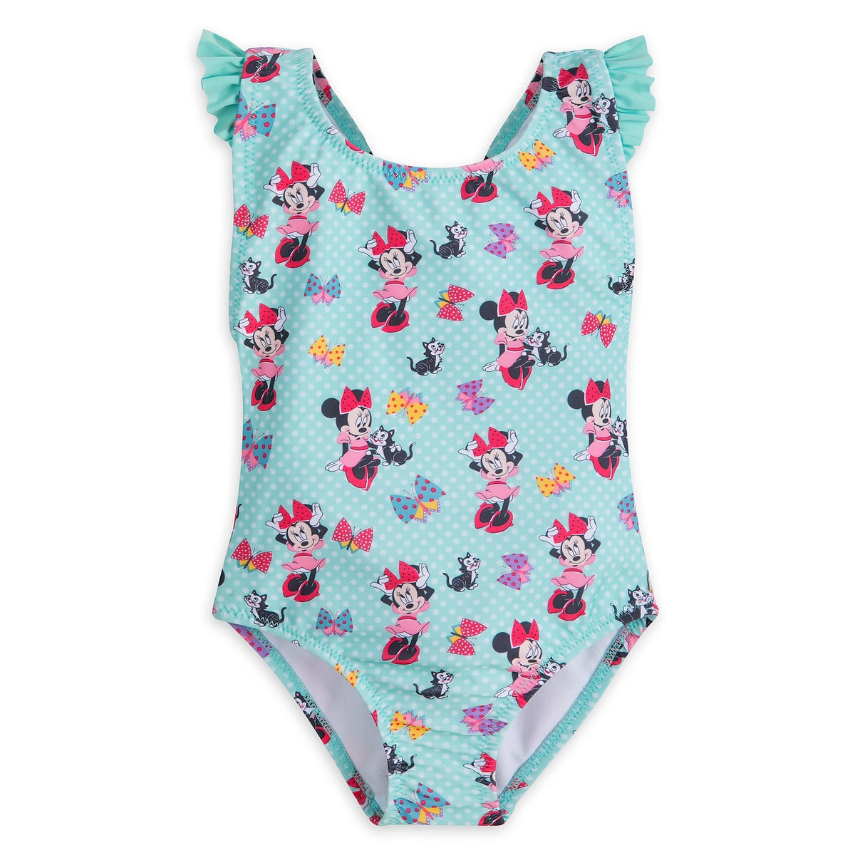 456935845a Product Image of Minnie Mouse and Figaro Swimsuit for Girls # 1