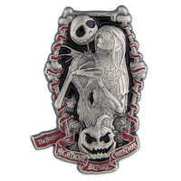 Image of Jack Skellington and Sally Pin # 1