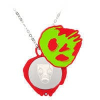 Image of Poisoned Apple Necklace with Compact Mirror - Snow White and the Seven Dwarfs # 4