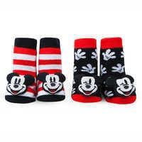 Image of Mickey Mouse Rattle Socks Set for Baby by Waddle # 1