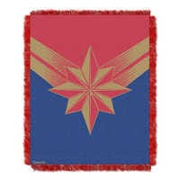 Image of Marvel's Captain Marvel Woven Tapestry Throw # 1