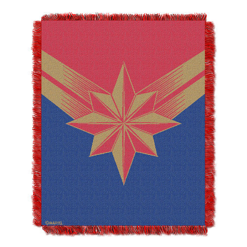 Marvel's Captain Marvel Woven Tapestry Throw