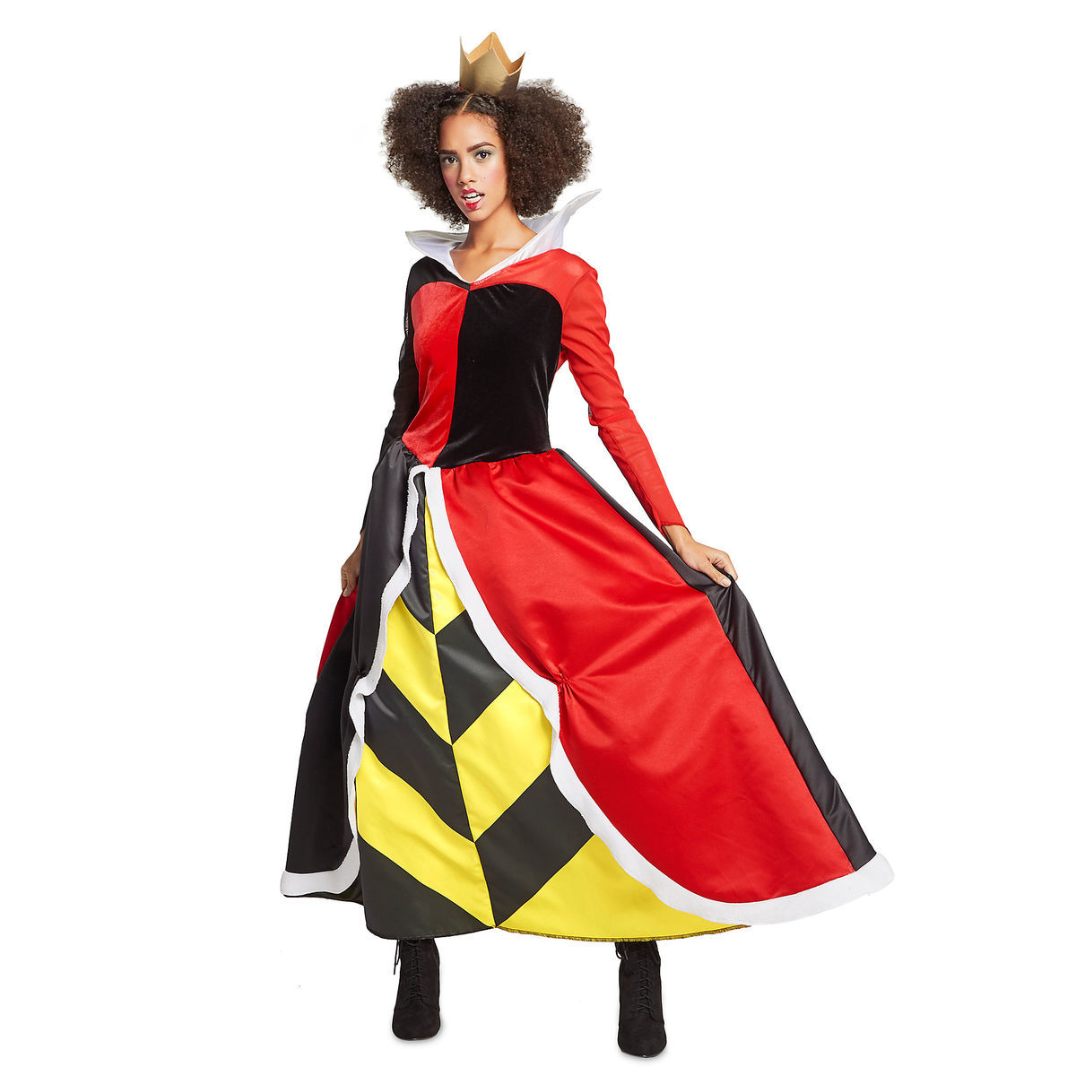 product image of queen of hearts deluxe costume for adults by disguise 1